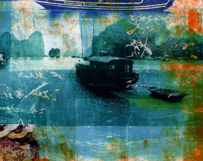 Vietnam Mixed Media VII by Sven Pfrommer - Artwork is ready to hang with a solid wooden frame
