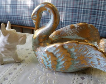 Golden Swan Stangl pottery green ceramic