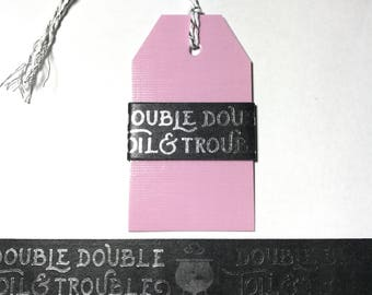 "30"" Silver Foil Double Double Toil and Trouble Washi Sample"