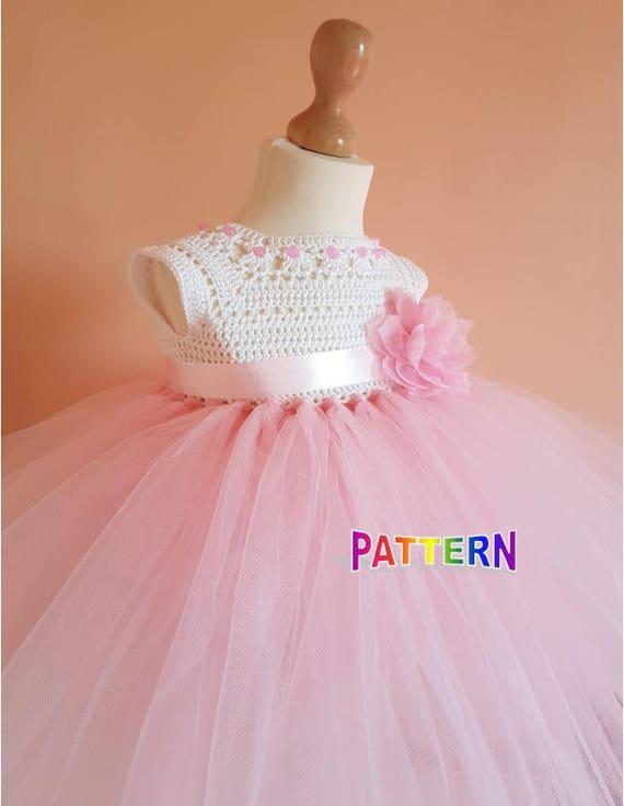 Crochet Tutu Dress Pattern Tutu Dress Pattern Crochet Yoke