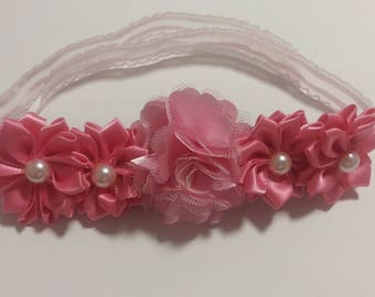 Pink Floral Bun Wrap -- Perfect for Dance, Ballet, & Everyday -- Wonderful Stocking Stuffer or Gift
