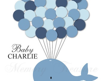 Baby Shower Guest Book Alternative Whale Baby Shower Whale