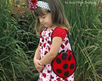 CROCHET PATTERN - Li'l Ladybug Purse - Handbag for little girls - Easy - PDF 501