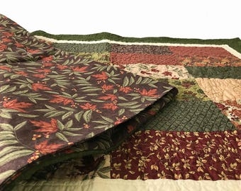Large Dog Bed Cover, Puppy Blanket, Dog Quilt, Pet Blanket, Handmade, Red Fence Quilting 32x43