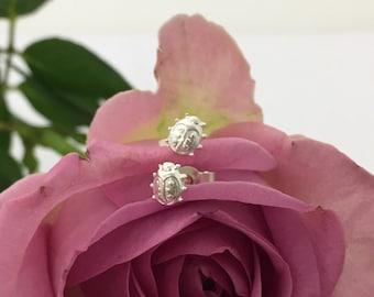 Ladybird Silver Stud Earrings