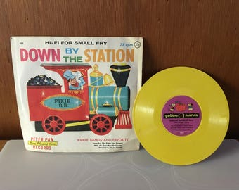 Vintage 1960's Peter Pan Records – Down by The Station