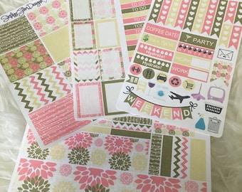 Autumn Bloom Weekly Sticker Kit   Erin Condren & Plum Paper Planner