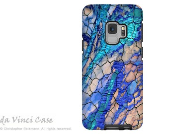 Blue Abstract Case for Samsung Galaxy S9 - Artistic S 9 Case with Art - Desert Memories - Dual Layer Case by Da Vinci Case