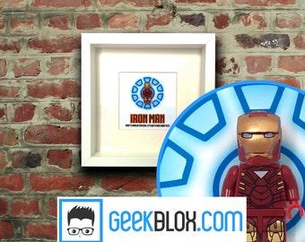 Iron Man Lego Framed