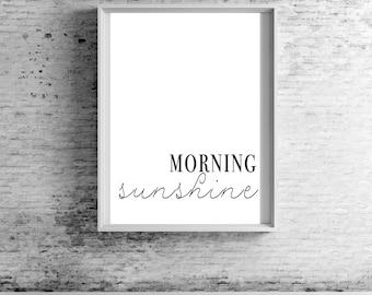 Morning Sunshine Wall Print