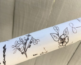 Ecofriendly Wrapping Paper - Botanical Sketch Print, Includes one roll