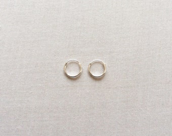 10 mm Sterling Silver Hoop Earrings - Silver Hoop Earrings - Tiny Hoop Earrings - Hoop Earrings - Small Hoop Earring -  Silver Hoop Tiny