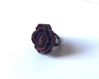 Flower Blossom Ring Bordeaux Large Summer