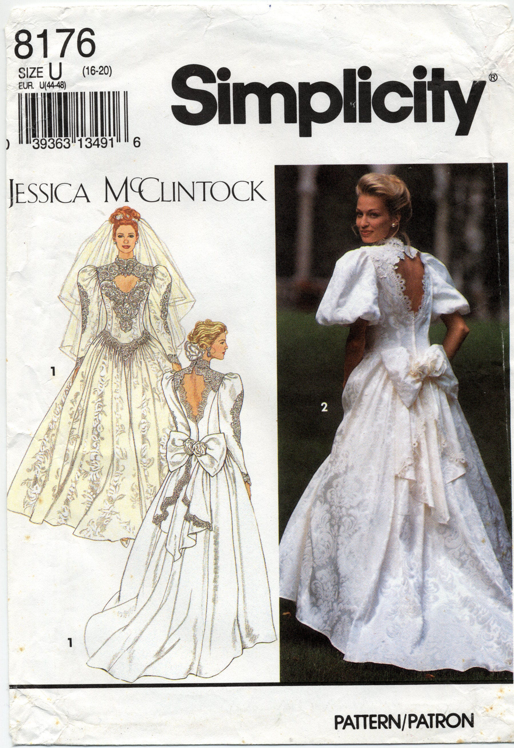 Jessica McClintock Wedding Gown Sewing Pattern Simplicity