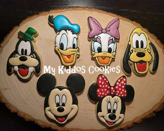 Mickey Mouse and Friends Cookies, Clubhouse Cookies, Birthday Cookies - 1 dozen
