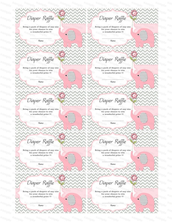 baby shower games elephant baby shower diaper raffle ticket free printable diaper bag guess game