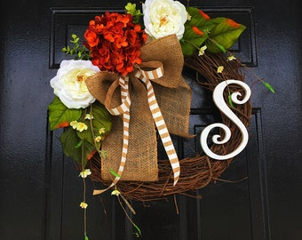 Fall wreath, personalized wreath, fall wreath, wreath for door, wreath for fall, fall decor, fall door wreath