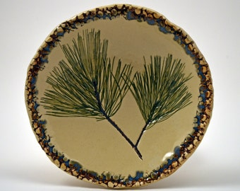 Small White Pine Imprint Dish