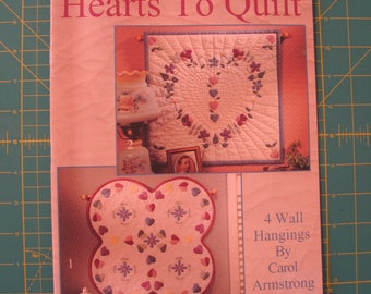 Quilt Book - Hearts to Quilt ~ Carol Armstrong ~ Wall Hangings ~Leisure Arts Quilting Quilt Pattern Book