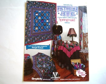 VICTORIAN JEWEL Booklet Quilting Pattern by Springmaid Fabrics Quilt & Table Topper Designed by Margit Echols Victoria Cross Berry Bramble