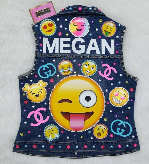 Emoji Vest Emoji Jacket Emoji Birthday Outfit Birthday