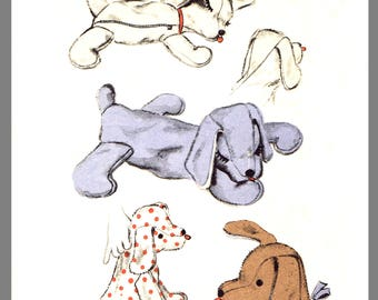 Instant Download Vintage Advance Stuffed Floppy Dog Toy Pajama case Fabric material Pattern #6588 PDF Delivery