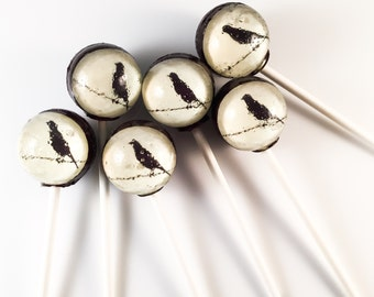 6 Bird On A Wire Hard Candy Lollipops