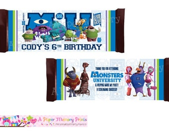 Monsters University Candy Wrapper - DIY Printable