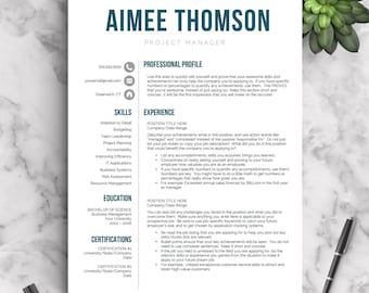 Creative Resume Template For Word U0026 Pages | 1, 2 And 3 Page Resume Templates