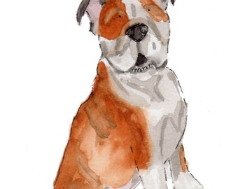 Custom Pet Portrait- watercolor 5X7