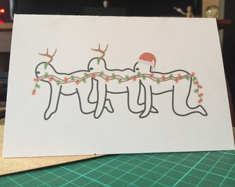 Human Centipede Christmas Card