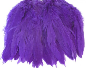 Rooster Schlappen Hackle Feathers - Bright Purple