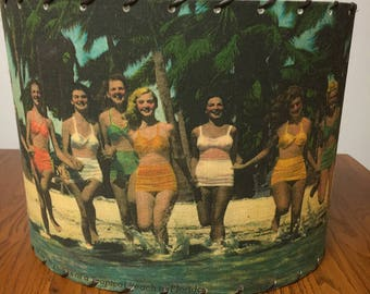 Beach House Decor Bathing Beauties Lamp Shade