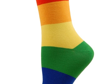 1 pair cotton rich PRIDE rainbow socks
