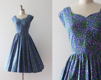 vintage 1950s Jerry Gilden dress // 50s cotton day dress