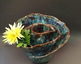 Ceramic Flower Centerpiece
