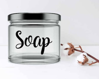 Soap Storage Label/Vinyl Decal/DIY Decal/Laundry Storage Container/Laundry  Sticker