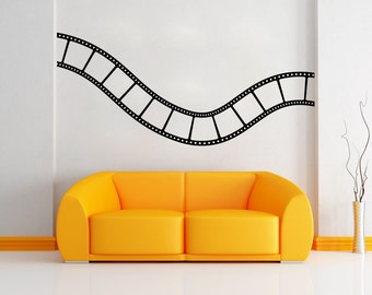 Vinyl Wall Decal Sticker Wavy Film Strip 1200B