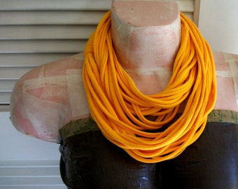 Golden Yellow Infinity Jersey Scarf