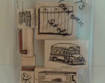 SALE Stampin Up Stamps, It's Academic, new