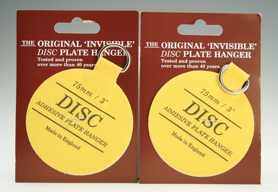 Set of Two (2) 3  Medium Plate Hangers Invisible Disc Plate Walls Hanger - 3  For Plates Up To 8  Plate Wall Hanger & Set of Two 2 3 Medium Plate Hangers Invisible Disc