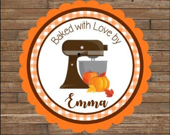 Personalized Kitchen Mixer Stickers    From the Kitchen Of Stickers      Autumn Baked Goods Stickers    Autumn Kitchen Mixer