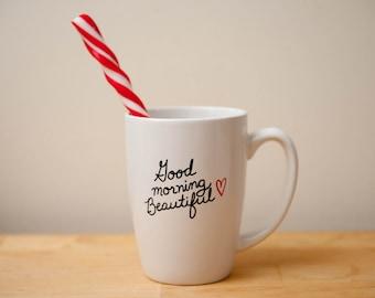 Good Morning Beautiful 14 oz Coffee Mug