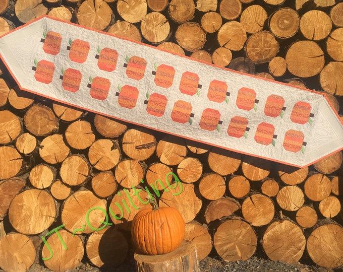 The Pumpkin Patch, Tablerunner, Centerpiece, Quilts, Modern Decor, Fall Decor,