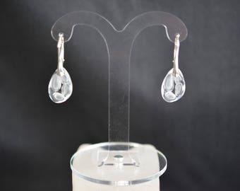 Silver earrings 925 and Radiolarian Swarovski crystal crytal