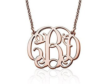 Fancy Monogram Necklace - Customize this Pendant with your Initials -Jewerly for Her