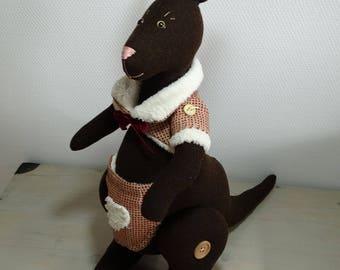 """Kangaroo """"Tilda"""" Brown and his jacket."""