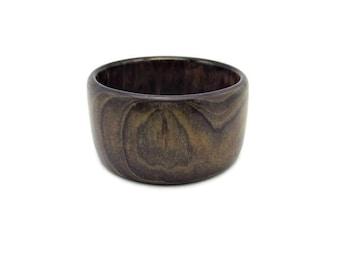 HuppkeWoods Boho Bangle/ Handcrafted Cypress Bracelet/ Solid Color Laminated wooden Bangle/ Translucent Purple / Glen Huppke and Lou Huppke