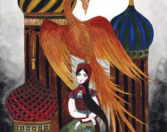 The Firebird Original Watercolor Illustration