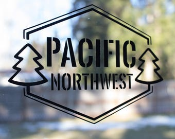 "Pacific Northwest Vinyl Decal- ""PNW Emblem"""